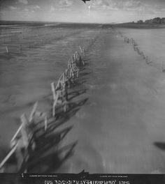 Normandy beach defenses, France, 7 May 1944 | World War II Database (US Marine Corps Robert Bare Collection)