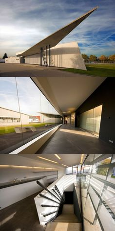 Zaha Hadid - Zaha Hadid Architects: Vitra Fire Station in Weil am Rhein, Germany Landscape Architecture Design, Concept Architecture, Futuristic Architecture, Sustainable Architecture, Architecture Details, Angular Architecture, Architecture Sketches, Architecture Quotes, Minimalist Architecture