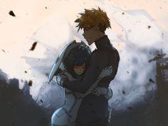 Ichigo e Goro - Darling in the FranXX Manga Anime, Anime Art, Querida No Franxx, Koro Sensei, Nagisa Shiota, Anime Reviews, Zero Two, Darling In The Franxx, Cute Anime Couples