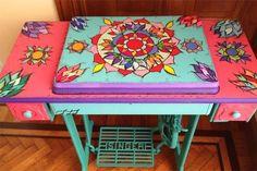 Ideas creativas para decorar con un pie de máquina de coser