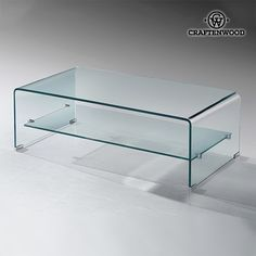 Centre Table (100 x 40 x 38 cm) Curved glass
