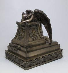 Bronze Finished Mourning Angel Urn >>> See this great product. (This is an affiliate link) Learning Cards, Tarot Learning, Spirit Store, Memorial Urns, Angel Statues, After Life, Cremation Urns, Funeral Flowers, Casket