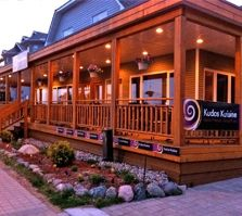 Kudos Kuisine, located on the Town Docks of Parry Sound In Season Produce, Pergola, Outdoor Structures, Restaurant, Explore, Outdoor Pergola, Exploring, Restaurants, Arbors