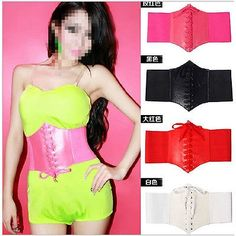 cool Fashion Women Retro Wide Stretch Bandage Corset Waist Belt Waistband - For Sale