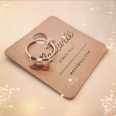 Madewell jewelry card