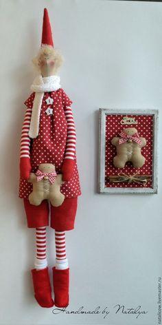 Купить Новогодняя тильда. - ярко-красный, тильда кукла, тильда, Новый Год, новогодний подарок