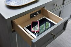 Docking Drawer's Slim Series is ideal for narrower drawer specifications and can charge up to four devices at once.