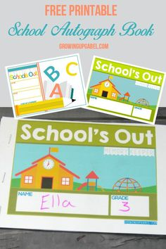 Skip expensive year books and make your DIY school autograph and memory books with a printable cover! Perfect for end of the year autographs for elementary kids.