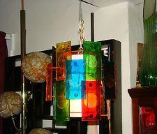 Mid Century Retro Mutli Color hanging Lamp EAMES ERA SUPER NICE!!!