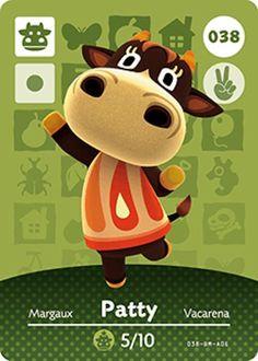 Nintendo Animal Crossing Happy Home Design Patty Amiibo Card 038 USA Version #Nintendo