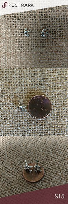 Tiny Sterling Silver Swallow Earrings Tiny Sterling Silver Swallow Earrings. Both are small enough to fit on a penny as pictured. NWOT. Very cute. Backs are included as these are new earrings. Jewelry Earrings