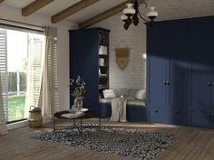 Nábytok do obývačky s kazetovými dvierkami na mieru / Livingroom furniture in rustic design Custom Furniture, Furniture Ideas, Living Room, Mirror, Home Decor, Room Decor, Mirrors, Living Rooms, Drawing Rooms