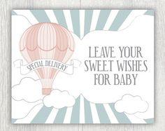 Printable invitation Hot air balloon by PrettiestPrintShop