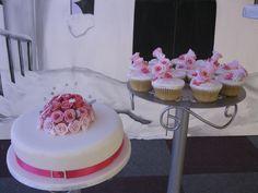 Wedding Cake and cupcakes
