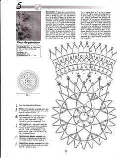 "Photo from album ""Crochet Creations - - on Yandex. Free Crochet Doily Patterns, Crochet Pillow Pattern, Crochet Blocks, Crochet Diagram, Crochet Motif, Doily Art, Lace Doilies, Crochet Doilies, Freeform Crochet"