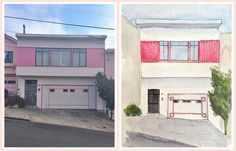 Awesome Portraits of Iconic San Francisco Houses - The Bold Italic - San Francisco