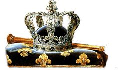 The crown of Charles X of France, designed by the House of Bapst for Louis XVIII. It followed the traditional pattern and the Regent Diamond was set in the great surmounting fleur-de-lis. It was not broken up until 1854.