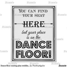 Dance floor seating plan wedding or party sign poster Vinyl Laminate Flooring, Cheap Hardwood Floors, Linoleum Flooring, Reception Party, Wedding Reception Decorations, Dining Room Chair Cushions, Room Chairs, Most Comfortable Office Chair, Ceremony Signs