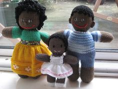 one piece knitted doll