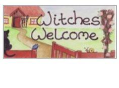 Garden sign, door sign, gate sign, shop sign, restaurant sign, witches welcome, bedroom door sign, welcome entrance sign