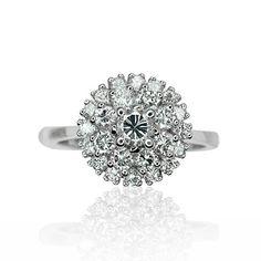 Diamond Ring Whitegold 1.054ct  Diamantring aus Weissgold mit 1,054ct Diamanten