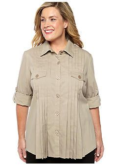 ND® New Directions Plus Size Pleat Front Blouse Shirt Blouses, Shirts, Plus Size, Long Sleeve, Board, Clothes, Shopping, Beauty, Tops