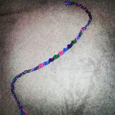Random pattern I made up c: <3  #Randompattern #Embroideryfloss #friendship