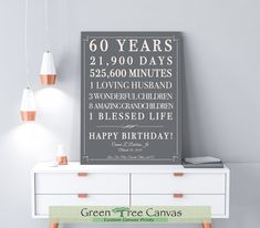 Ideas for Mom's Birthday Excited to share the latest addition to my shop: Birthday Gift for Women Birthday Gift Sign Canvas Birthday Decoration Gift for men Birthday Gift for Women 60th Birthday Ideas For Women, 50th Birthday Gifts For Woman, 60th Birthday Party, Birthday Woman, Women Birthday, Daddy Birthday, 60th Birthday Decorations, 50th Anniversary Gifts, Custom Canvas Prints