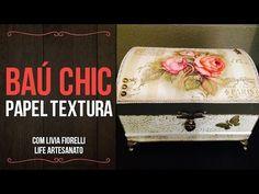 Vida com Arte   Baú com Forração Artesanal por Regiane Boppré - 23 de Julho de 2014 - YouTube
