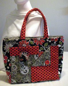 Pockets A Plenty Tote by QuiltingMyWay on Etsy, $30.00