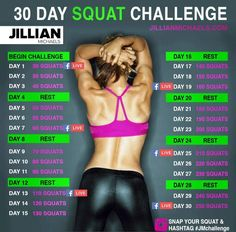 Jillian Michaels squat challenge!