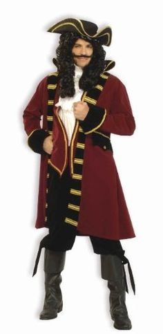 Forum Designer Deluxe Pirate Captain Costume, Multi, Extra Large  - Click image twice for more info - See a larger selection womens men's pirate costume at http://costumeriver.com/product-category/men/ - mens, holiday costume , event costume , halloween costume, cosplay costume, classic costume, scary costume, pirate, classic costume, clothing
