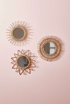 Home accessory: magical thinking, urban outfitters, wood, mirror, beach house, boho, wall decor, home decor, stars, sun - Wheretoget