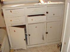 Antique Painted Bathroom cabinet
