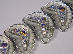 Vintage Bracelet Classic Aurora Borealis by dianadivine on Etsy