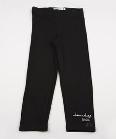 Take a look at this Black Leggings - Infant, Toddler & Girls by Lourdes on #zulily today!