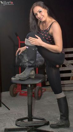 Pantyhose rubber boots gallery