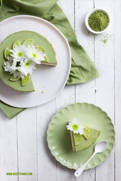 Matcha Lime Cheesecake Link ricetta --> http://www.nicestthings.com/2015/03/matcha-limetten-cheesecake.html?m=1
