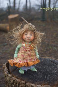 needle & wet felted OOAK doll https://www.facebook.com/FairyfeltBySiso/