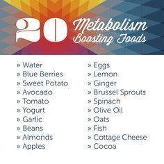 20 metabolism boosting foods.