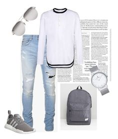 HIS STYLE 2016 - 1 by thenarshamissry on Polyvore featuring polyvore, Y-3, Balmain, adidas, Kapten & Son, Linda Farrow, Spiral, men's fashion, menswear and clothing