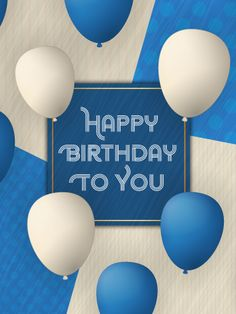 Send Free Artistic Shapes - Happy Birthday Card to Loved Ones on Birthday & Greeting Cards by Davia. It's free, and you also can use your own customized birthday calendar and birthday reminders. Happy Birthday Ballons, Happy Birthday Blue, Birthday Cheers, Happy Birthday Images, Birthday Messages, Happy Birthday Wishes, Birthday Greeting Cards, Card Birthday, Birthday Calendar