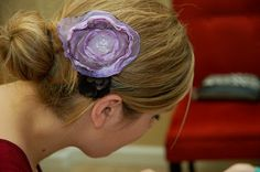 How to Make Whimsical Fabric Flower Hair Clips | TikkiDo.com