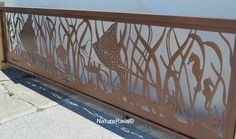 #mantarays in our custom metal  #railing CS-15-629 by NatureRails.   Shown here ready for shipment and powder coated in a copper color.  Chose your design, your color, your size and we'll do the rest.