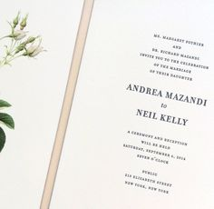 wedding invitation / paper & type.
