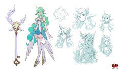 Here's the official concept art for Star Guardian Soraka! Lol League Of Legends, League Of Legends Poppy, Game Concept Art, Character Concept, Character Design, Tekken Cosplay, Fanart, Image Fun, Fantasy Costumes