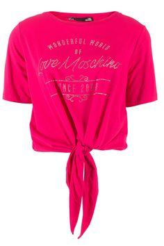 Love Moschino t-shirt roze