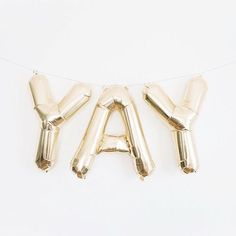 YAY gold balloons - perfect for a bridal shower or bachelorette party!