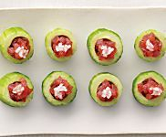 Cucumber Cups with Spicy Tuna