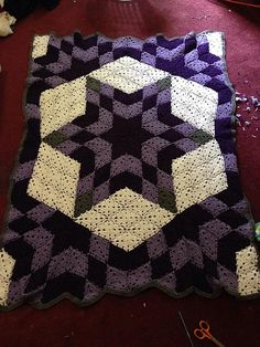 Ravelry: Project Gallery for Desert Star / Prairie Star Throw pattern by Marilyn Coleman and Mary Jane Protus